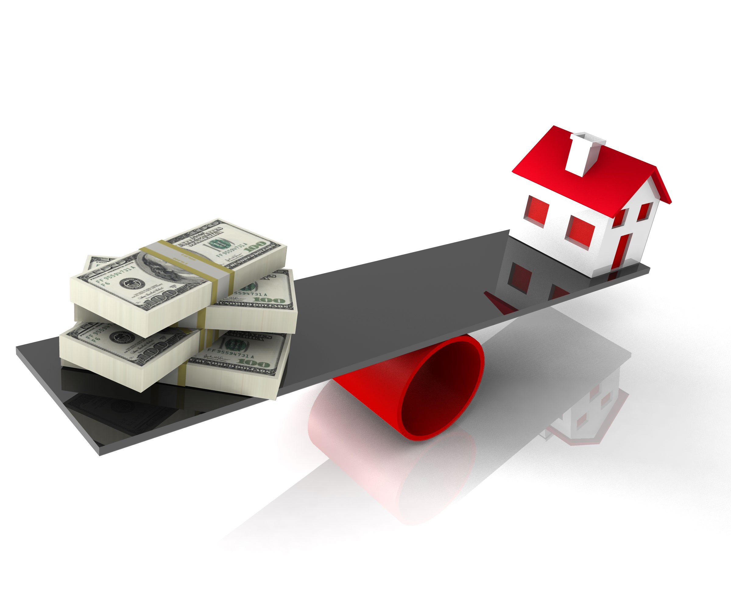 house_with_balance_money_on_balancing_scale_stock_photo_Slide01